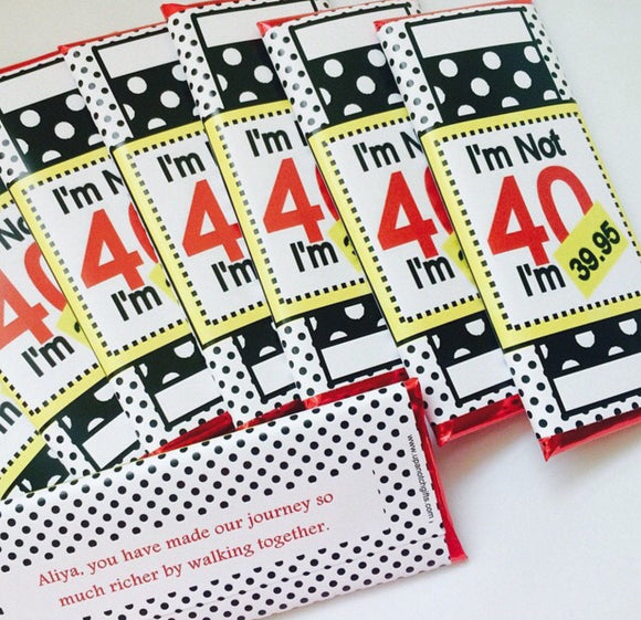 Funny 40th birthday favors