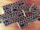 Black and gold candy wrappers