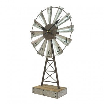 WINDMILL TABLE CLOCK