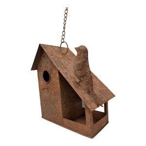 Rust Hanging Birdhouse