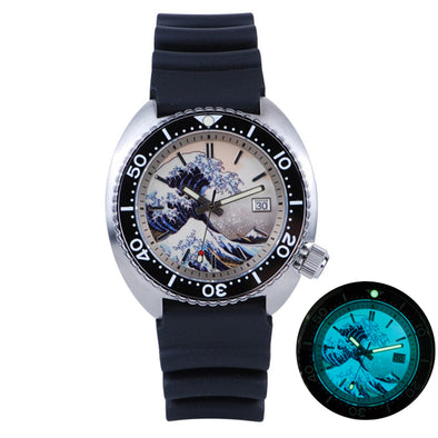 HEIMDALLR SRP777 Great Wave Full Lume Dive Watch