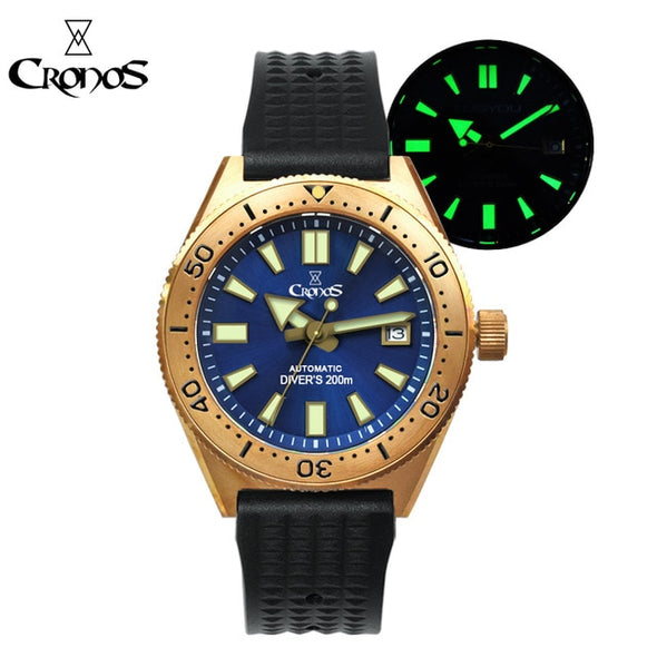 Cronos CUSN8 Bronze Men's Diver Watch