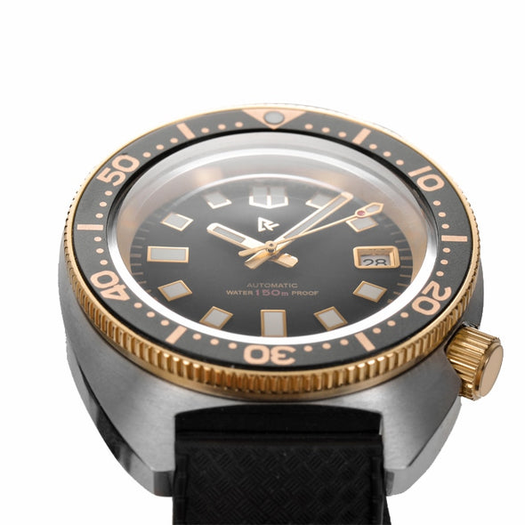 Rdunae Retangula Vintage Turtle 6105-8000 Dive Watch