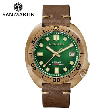 San Martin Bronze Captain Willard 6105 Turtle Watch SN047
