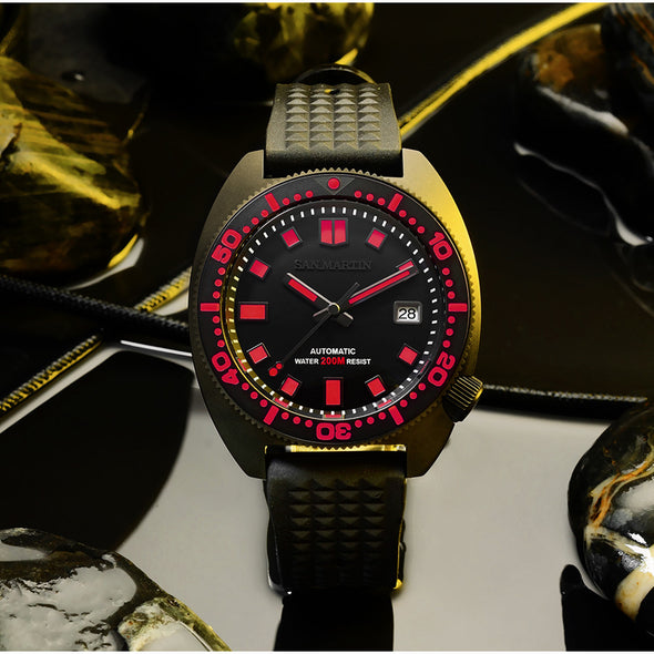 San Martin PVD Black Warrior 6105 Turtle Diver SN068