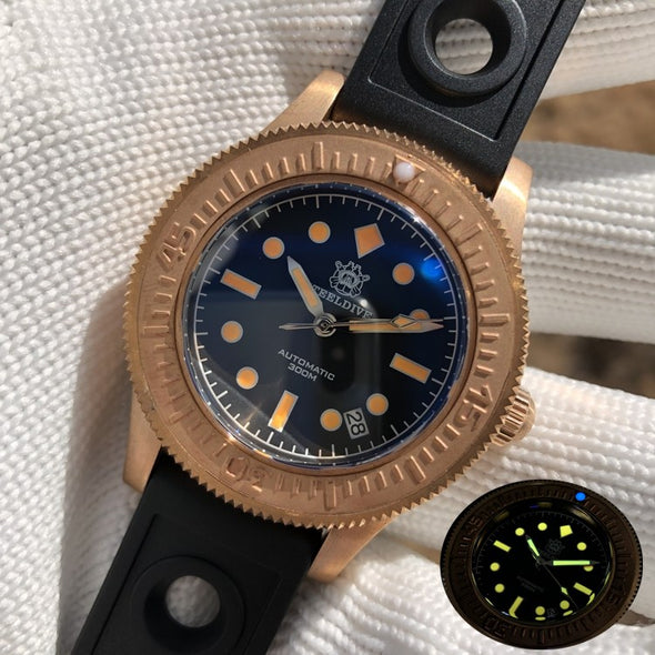 Steeldive 1952S Bronze Fifty Fathoms Diver Watch