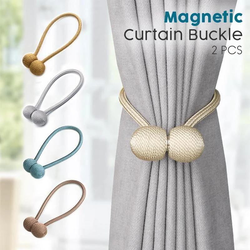 Magnetic Curtain Buckle(A set of 2 pcs)【BUY 3 GET 1 FREE】