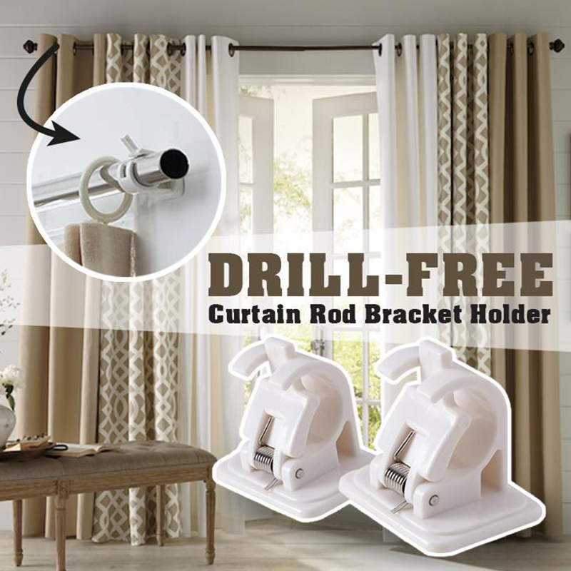 Nail-free Smart Rod Bracket Holders 【Set of 2】