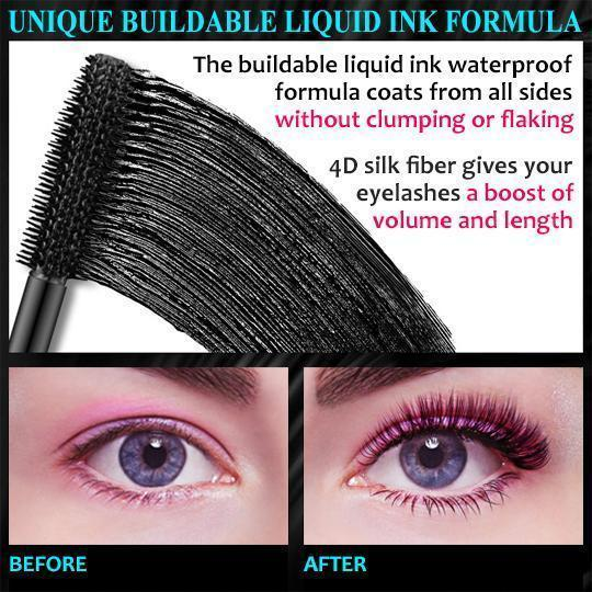 Buy 1 Get 1 Free - QIC™ 2020 NEW 4D Waterproof Silk Fiber Thick Lengthening Mascara