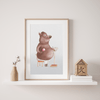 "Poster ""Pig Monday"" Nursery Wall Art Print"