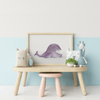 whale nursery room poster