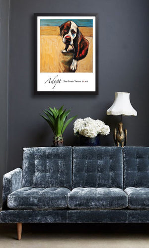 Bambi ~ Adopt To Find True Love Giclée Dog Print - An Act of Dog-Museum of Compassion