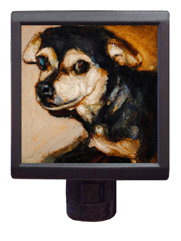 Dog Art Night-Light ~ Buddha Blitzen - An Act of Dog-Museum of Compassion