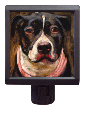 Dog Art Night-Light ~ Dharma Diamond - An Act of Dog-Museum of Compassion
