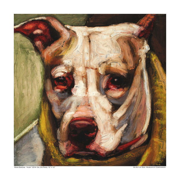 Handsome Hush- Dog Print - An Act of Dog-Museum of Compassion