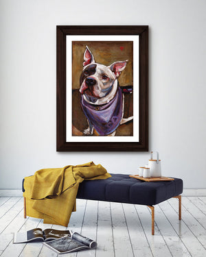 Lucy ~ OPIN Rescue Dog Print - An Act of Dog-Museum of Compassion