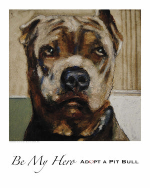Pit Bull Dog Print ~ Blue - An Act of Dog-Museum of Compassion