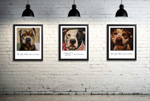 Pit Bull Dog Print ~ Katrina - An Act of Dog-Museum of Compassion