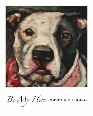 Pit Bull Dog Print ~ Roxy - An Act of Dog-Museum of Compassion