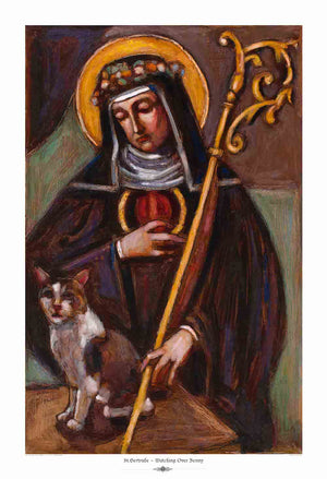 St. Gertrude ~ Patron Saint of Cats - An Act of Dog-Museum of Compassion