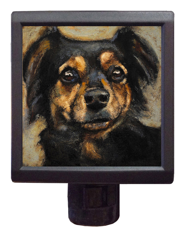 Dog Art Night-Light ~ Yogi Yaya - An Act of Dog-Museum of Compassion