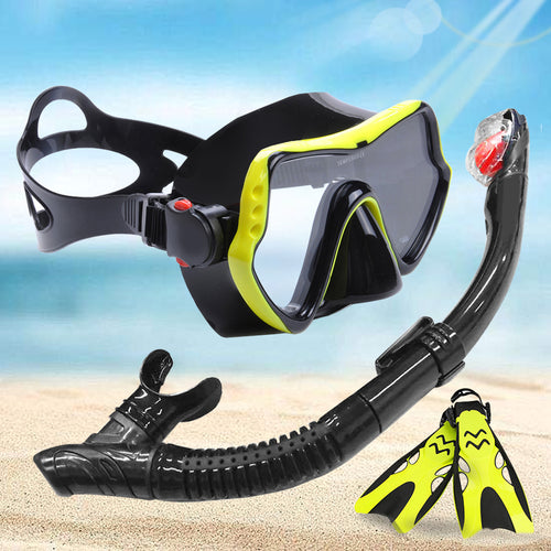 Professional Anti-Fog Scuba Diving Goggles Mask & Snorkel Set