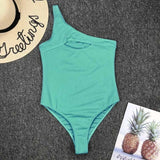 Sexy Women One Piece Swimwear Cut Out Swimsuit Beachwear Suit