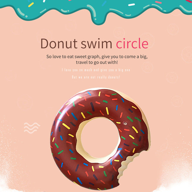 Giant Inflatable Donut Swim Float
