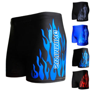 Men's Flame Pattern Performance  Swimming Shorts