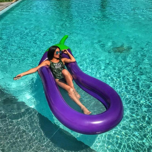 Inflatable Eggplant Floating Mattress