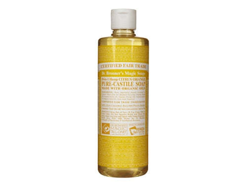 Dr. Bronner Pure Castile Liquid Soap - Citrus Orange, 8oz