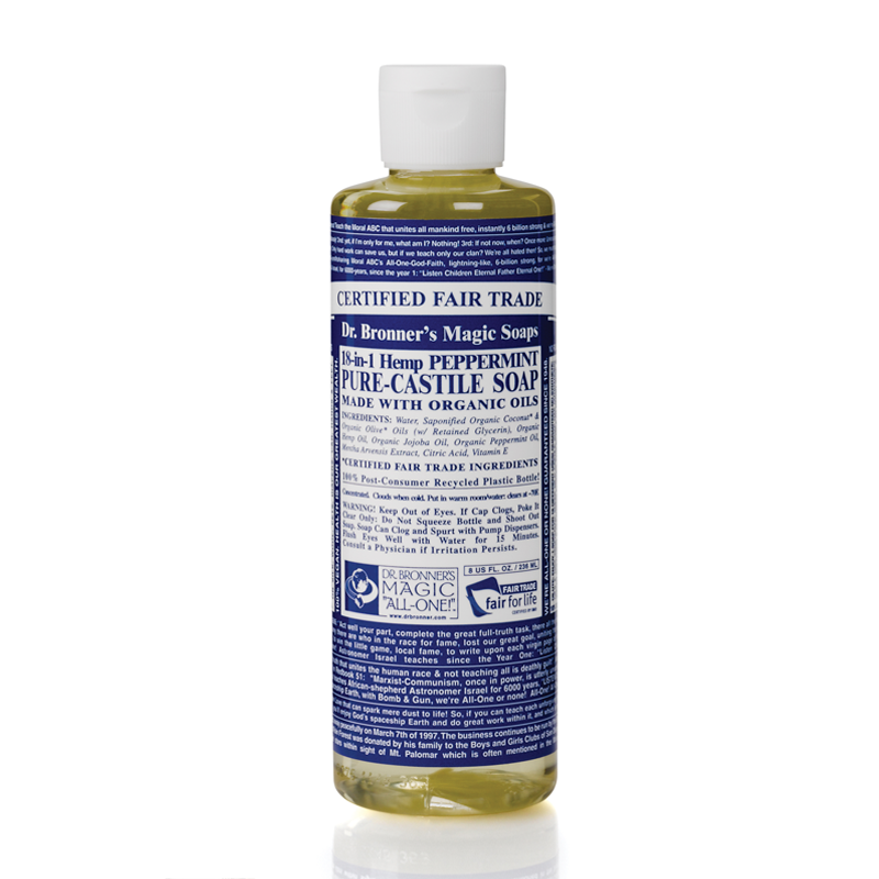 Dr. Bronner's Pure Castile Liquid Soap - Peppermint 8 Oz