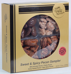 Sweet and Spicy Pecan Sampler