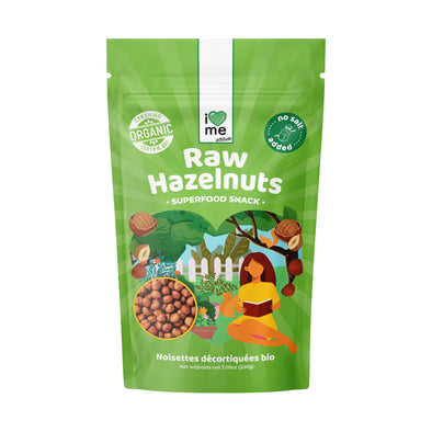 Organic Hazelnuts raw unsalted no shell I LOVE ME attitude