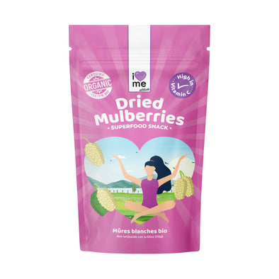 Organic Dried Mulberries - I LOVE ME attitude