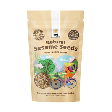 Organic natural raw Sesame Seeds I LOVE ME attitude