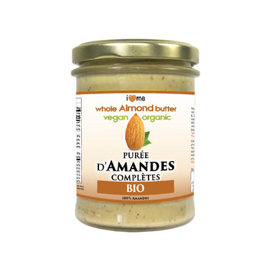 Organic whole almond butter - I LOVE ME attitude