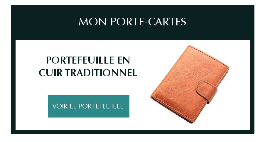 portefeuille cuir traditionnel