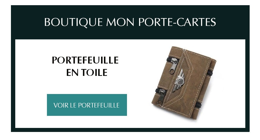 portefeuille toile armee