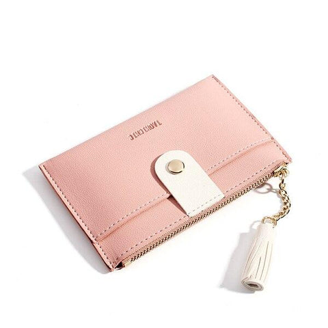Porte-cartes cuir pu rose