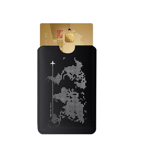 Porte-cartes de protection RFID noir