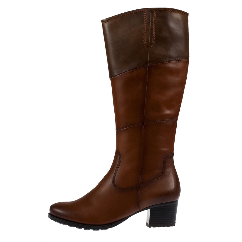 Women's Leather Block Heel Tall Boot