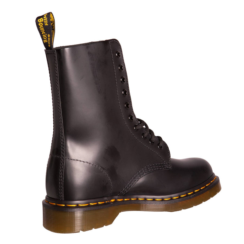Dr Martens Unisex 1490 Classic Black Leather Lace Up Boot (11857001)