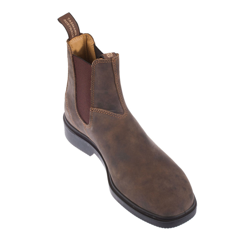 Chisel Toe Elastic Sided Leather Boot