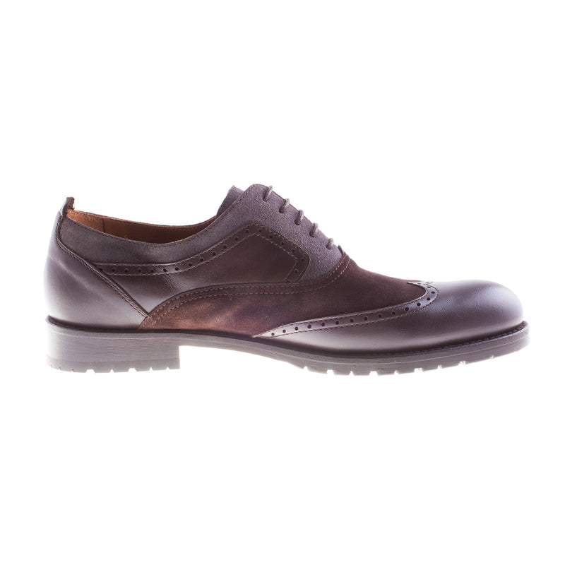 Women's 1449 Leather/Suede Brogue Shoe