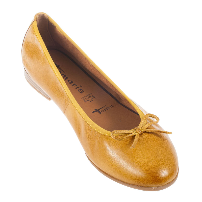 Women's 1-1-22116-28 Leather Ballerina