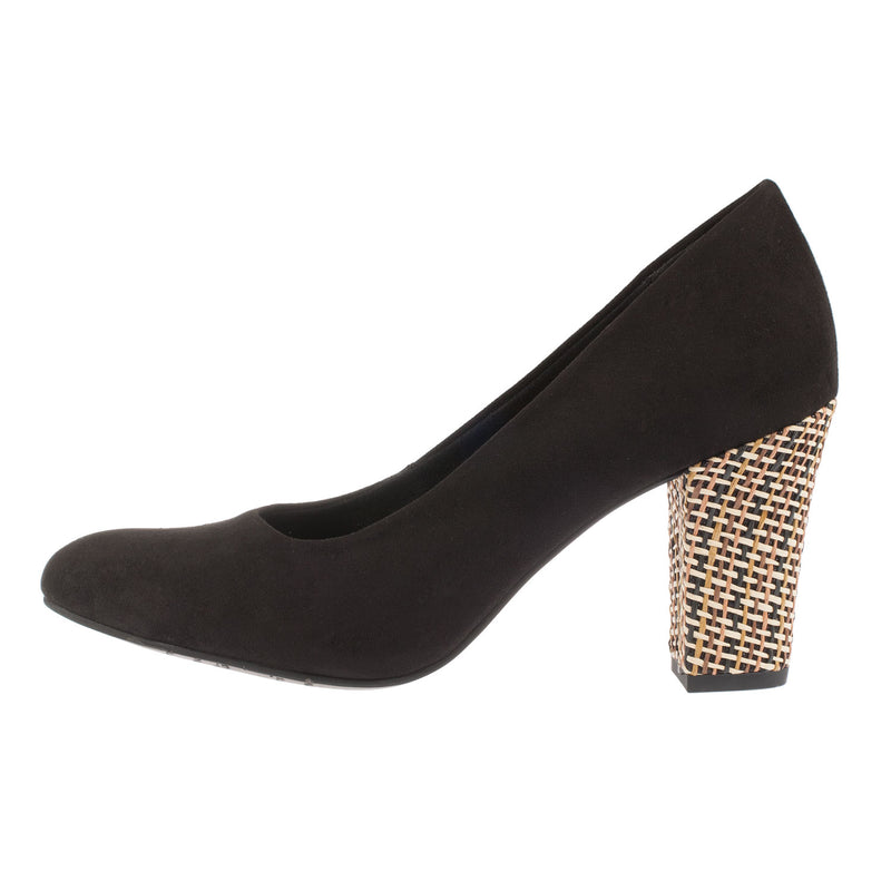 Women's Slip On Textile High Heel Shoe