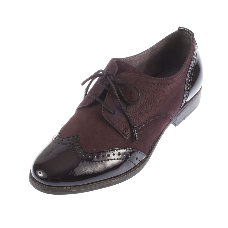Women's Leather/Synthetic Lace Up Brogue