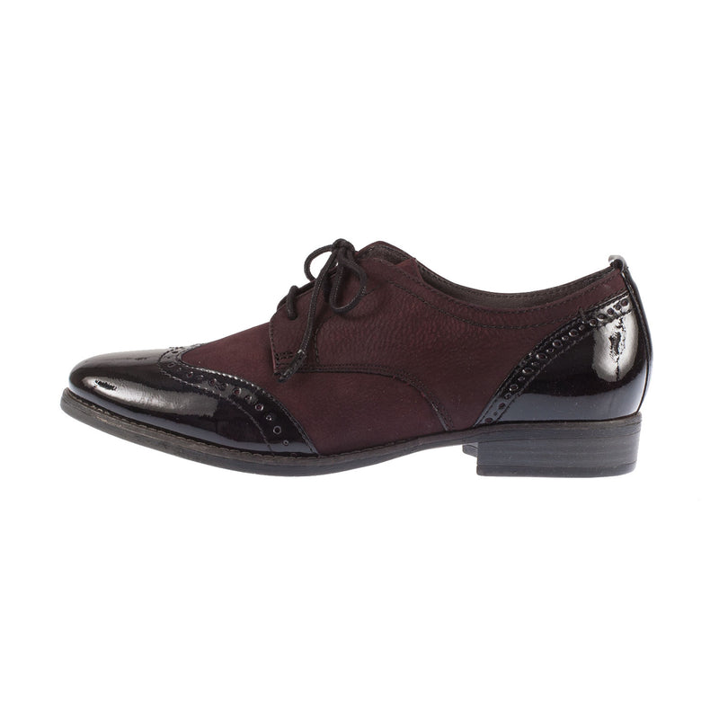 TAMARIS Women's Leather/Synthetic Lace Up Brogue Shoe
