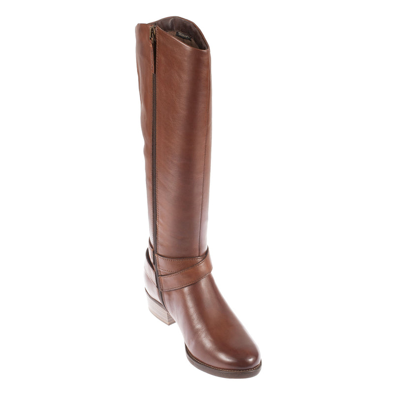 Women's 1-25585-27 Leather Wide Calf Boot
